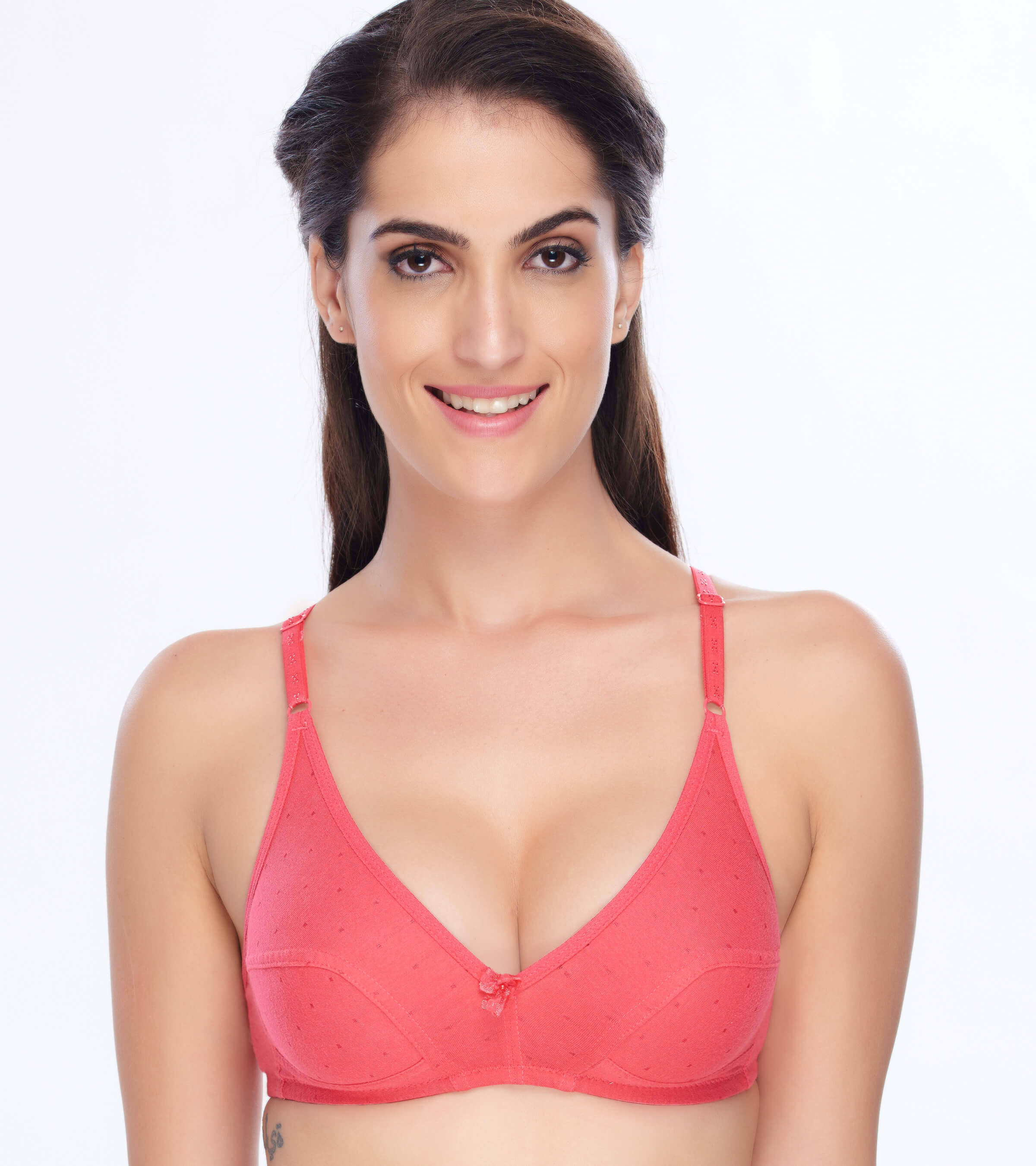 55fdd9b3a3659 Daisy Dee Cotton Lightly Padded Non Wired Full Coverage Red Bra ...
