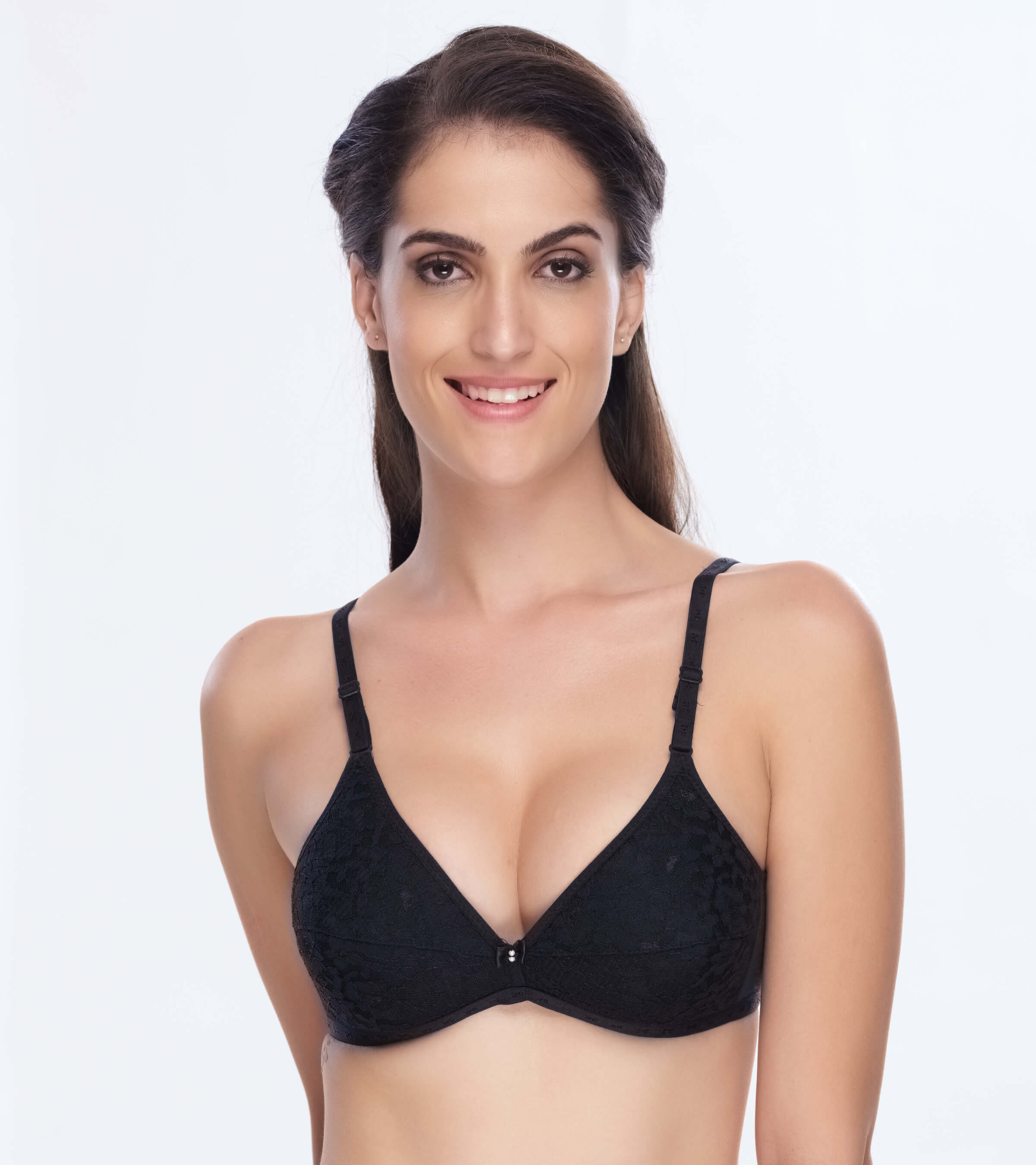 7f2c73d13b577 Daisy Dee Cotton Lightly Padded Non Wired Full Coverage Black Bra - SPECIAL  ACCASIONS - BLACK