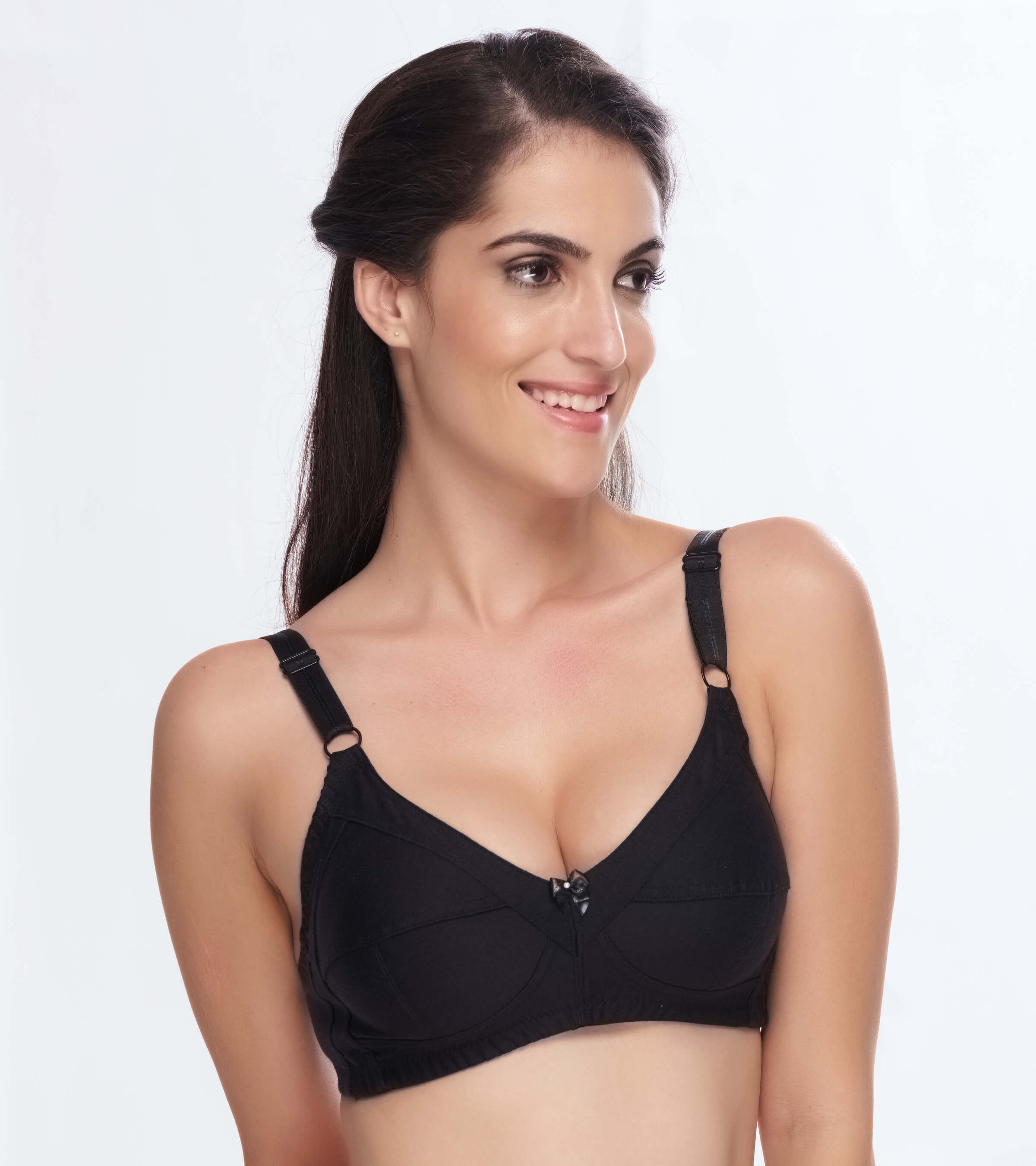 97c252b444260 Daisy Dee Cotton Non Padded Non Wired Full Coverage Black Bra ...