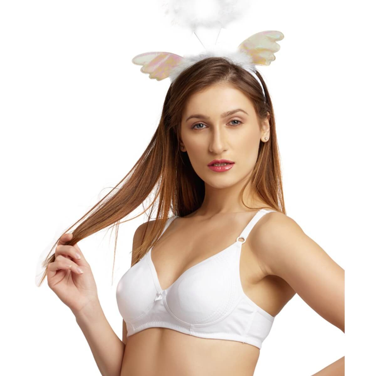 fba8bb7fe3ef2 Daisy Dee Cotton Rich Non Padded Moulded Full Coverage WHITE Bra ...