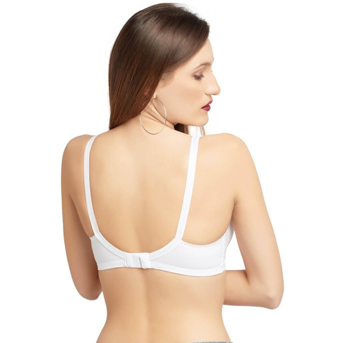 fa5fa93f4e071 Daisy Dee 100% Cotton Cut   Sew Full Coverage WHITE Bra- SPECIAL MOODS  CHARISHMA - WHITE