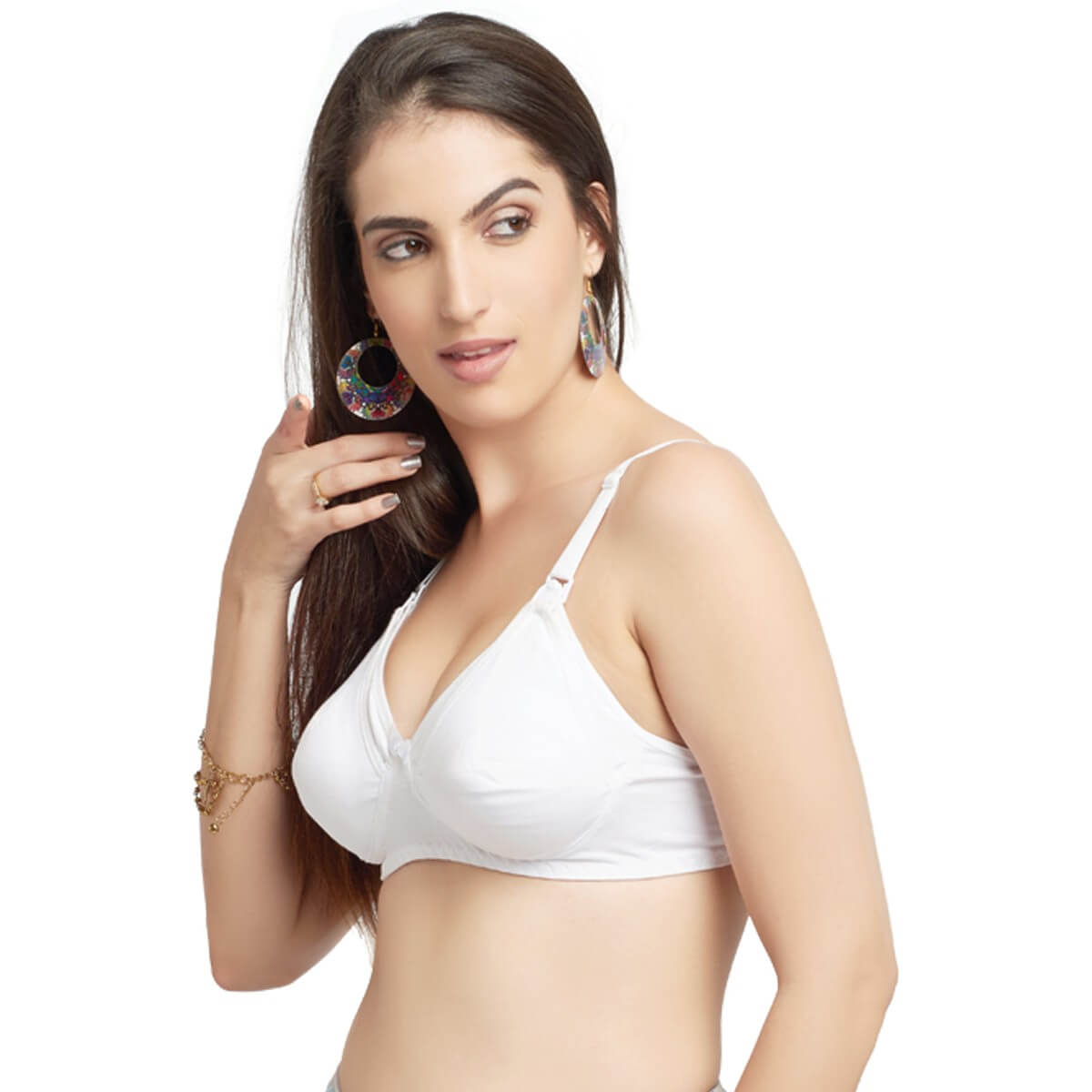 15ec164ae1 Daisy Dee Cotton Rich Non Padded Moulded Full Coverage WHITE Bra ...